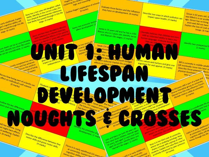 Human Lifespan Development - Exam Question Revision Game (Noughts and Crosses)