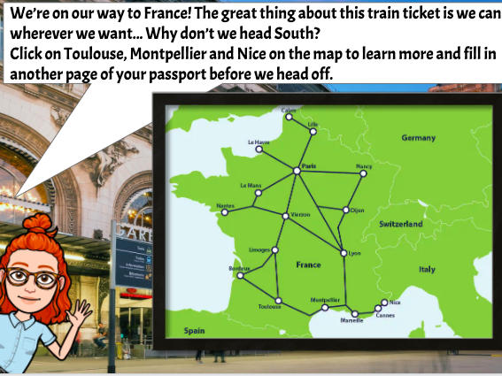 Interrail Virtual Trip to France Project