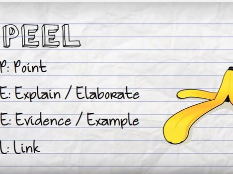 Year 7 English - PEEL sheet