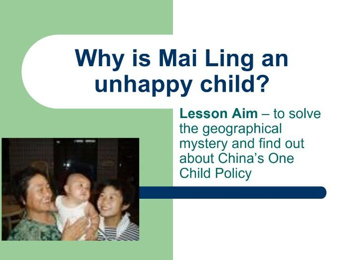 One Child Policy China Lesson