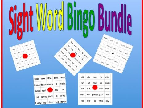 Sight Word Bingo Games Bundle