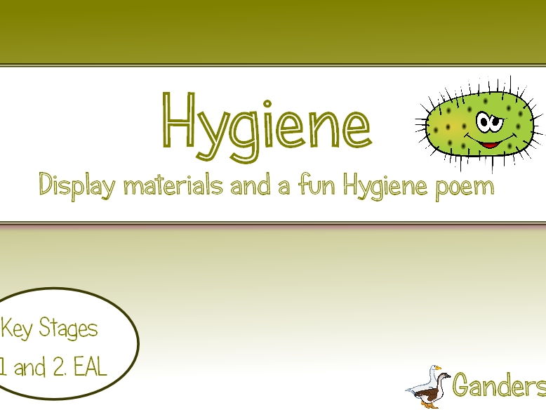 hygiene display materials plus  u0026 39 mikey microbe u0026 39