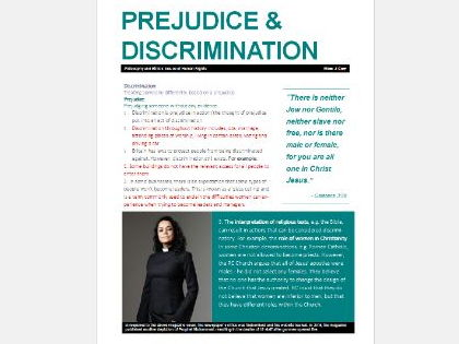 WJEC Eduqas Issues of Human Rights: Prejudice & Discrimination Exam Booklet