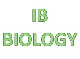 IB BIOLOGY OPTION A - NEUROBIOLOGY