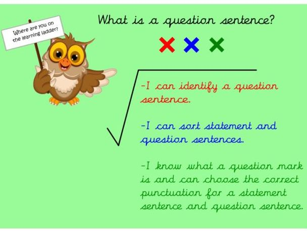 KS1:Generating and Punctuating Questions - Planning & Resources