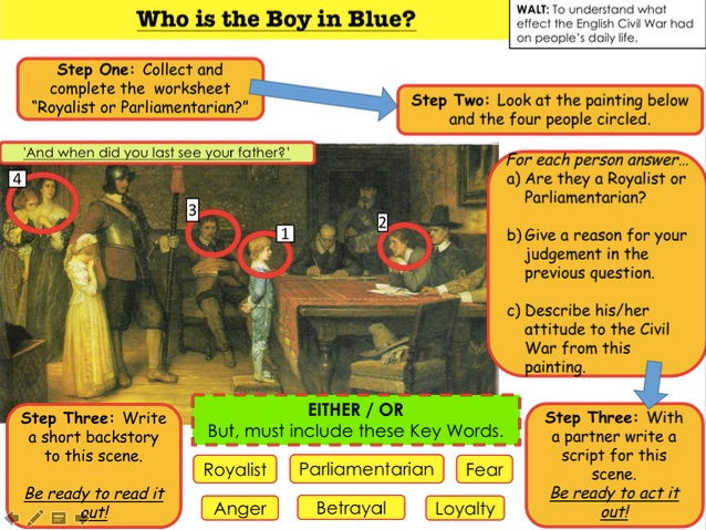 English Civil War Who is the Boy in Blue?