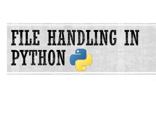 Python: File handling