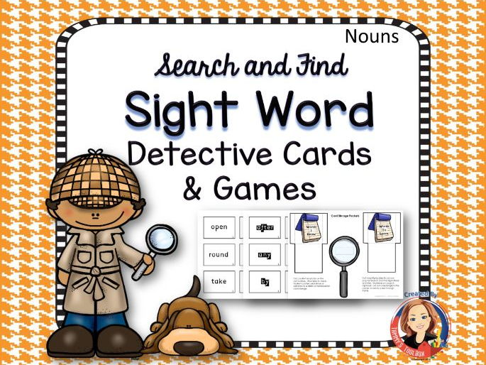 Sight Word Games and Cards - Nouns