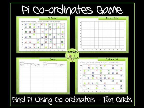 Pi Day Co-ordinates Game