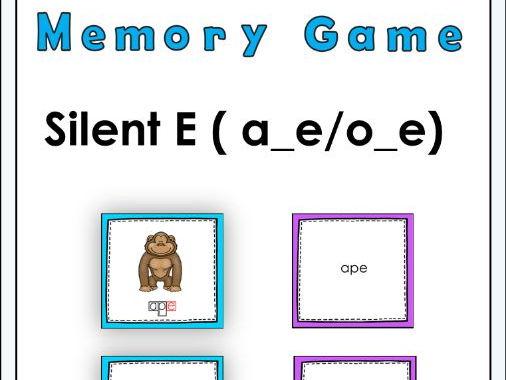 Silent E ( a_e, o_e ) Memory Game