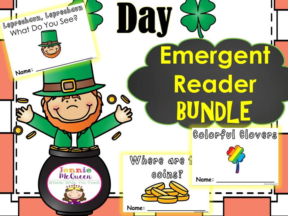 St. Patrick's Day Emergent Reader Bundle: THREE in one
