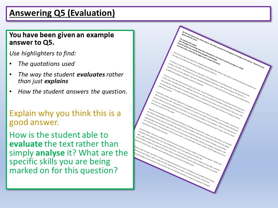Eduqas Paper 1 Q5 Model Answer