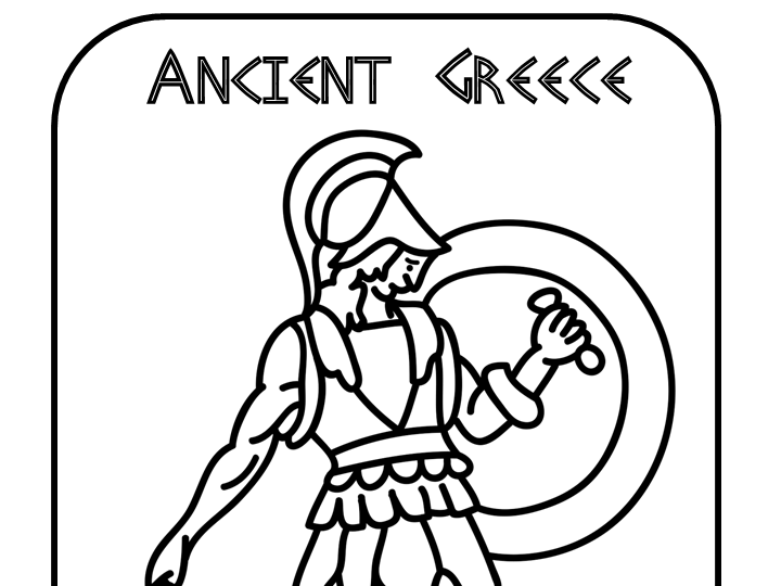 Exceptionnel 10 Ancient Greece Colouring Pages (Zeus, Athena, Warrior, Chariot, Etc) By  Hoppytimes   Teaching Resources   Tes