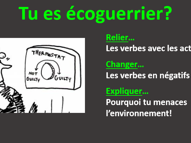 French: Are you an eco-warrior (or not)?