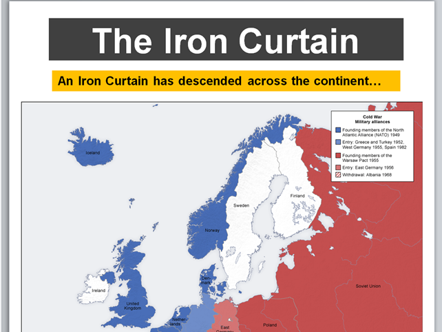 The Cold War - Introduction, Division of Europe and the Iron Curtain (AQA Conflict and Tension)