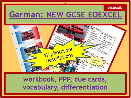 EDEXCEL German NEW GCSE: Foundation writing photo task 11-page wkbk + activities; cover, revision...