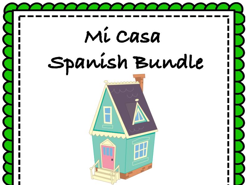 Mi Casa: Spanish Bundle on House Vocabulary: Top 5 Resources @30% off!