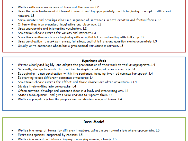 Literacy and LNF assessment checklists KS2