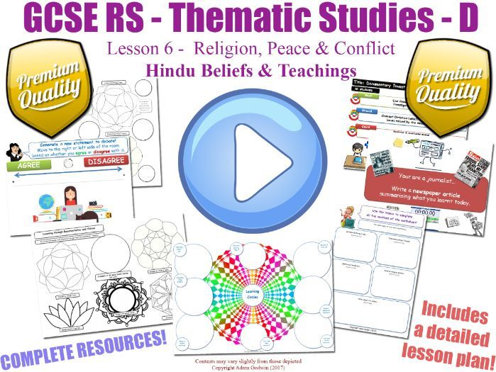 GCSE Hinduism - Religion, Peace & Conflict - Unit Overview (Religious Studies - L6/7)
