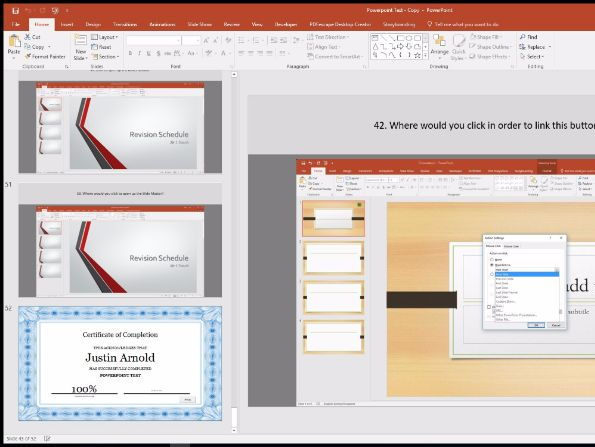 Interactive PowerPoint Exam (Produces Graded Certificate)