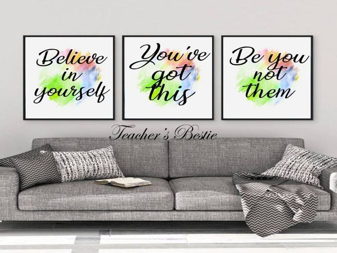 digital prints wall art - Set of 3 empowering prints - art poster -decor typography print download
