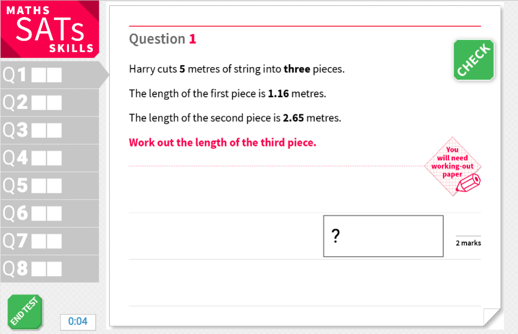 Measure problems with decimals - KS2 Maths Sats Reasoning - Interactive Exercises