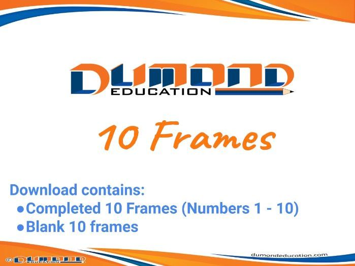 Ten Frames (Numbers 1-10 + Blank Templates)