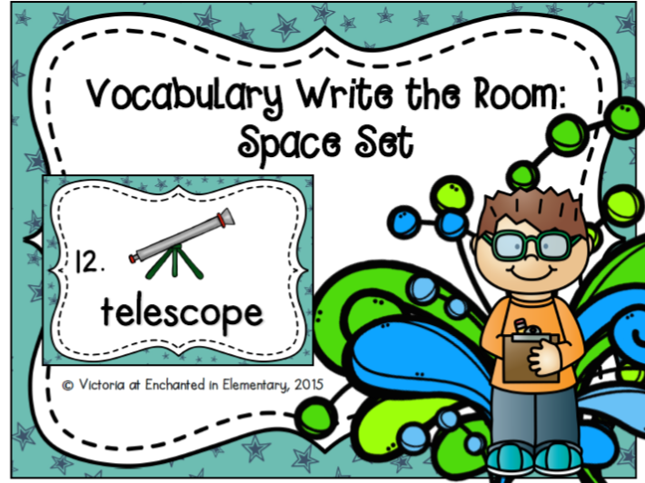 Vocabulary Write the Room: Space Set