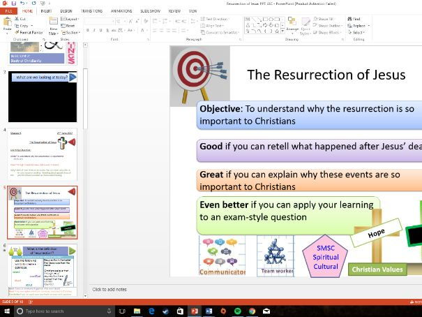 WJEC Eduqas: Christianity: Resurrection of Jesus - Whole Lesson