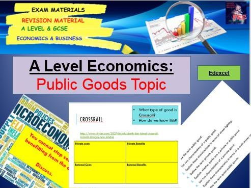 Public Goods, Microeconomics: A Level Economics