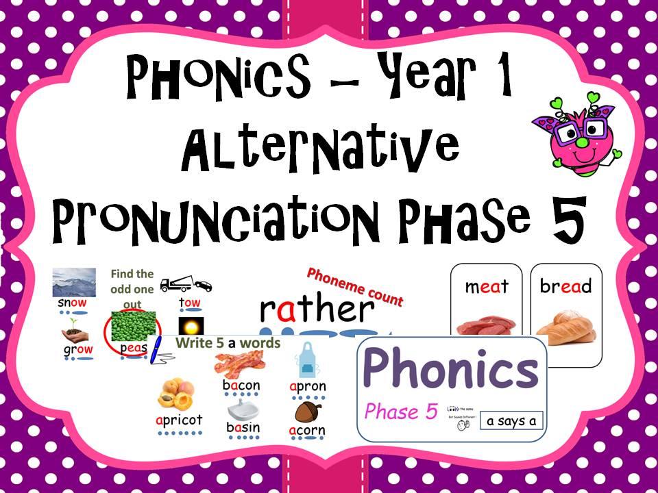 All Phase 5 Alternative Pronunciations