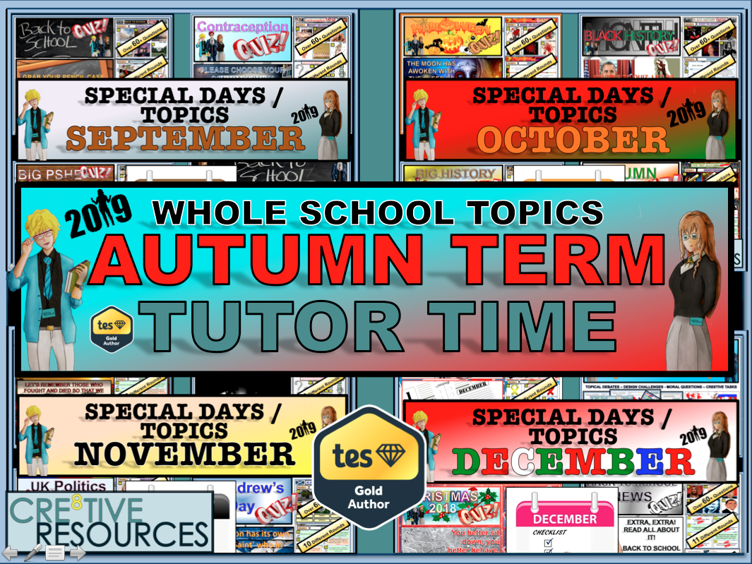 Autumn Term Tutor Time Activities