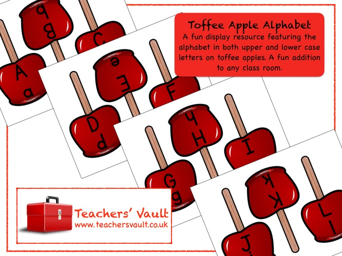 Toffee Apple Alphabet Display