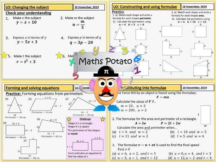 Basic Algebra Skills. Solving, substituting ,simplifying and constructing.