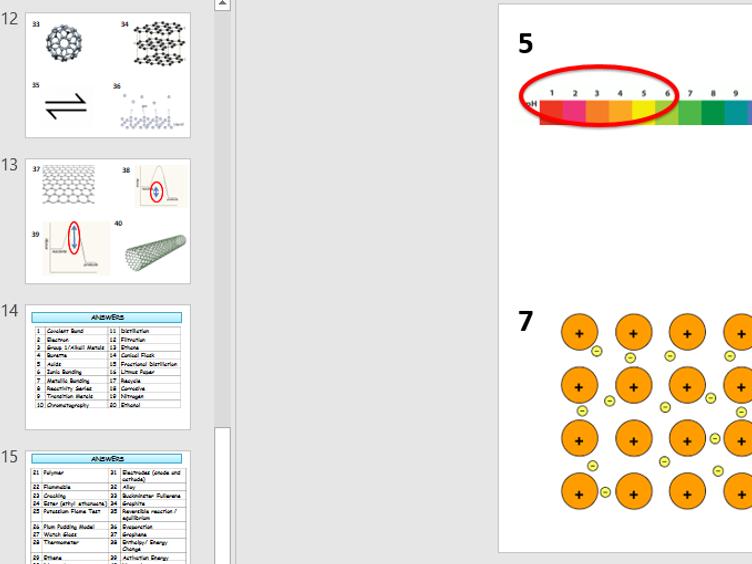 AQA GCSE (9-1) Chemistry Picture Quiz - Revision