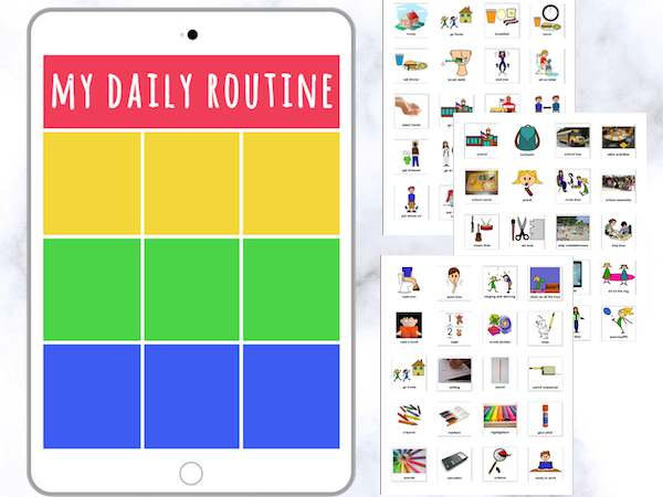 Daily Visual Schedule [iPad Theme]