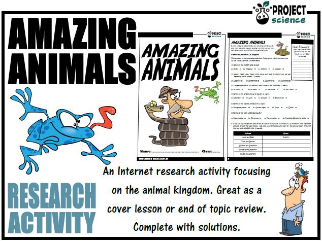 Amazing Animals Internet Research Activity
