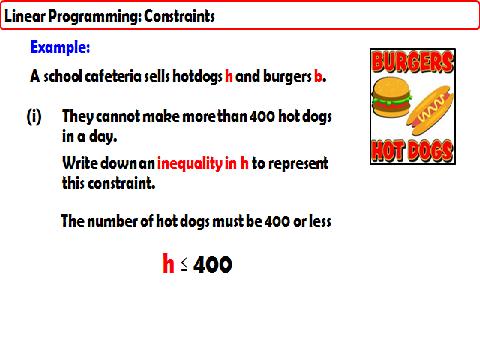 Linear Programming Constraints