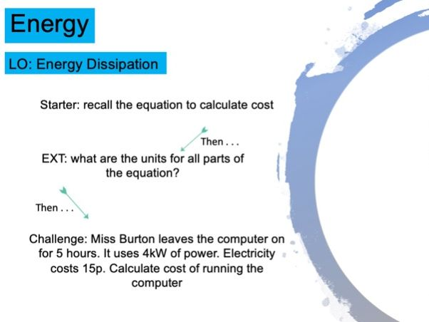 KS3 Energy Dissipation