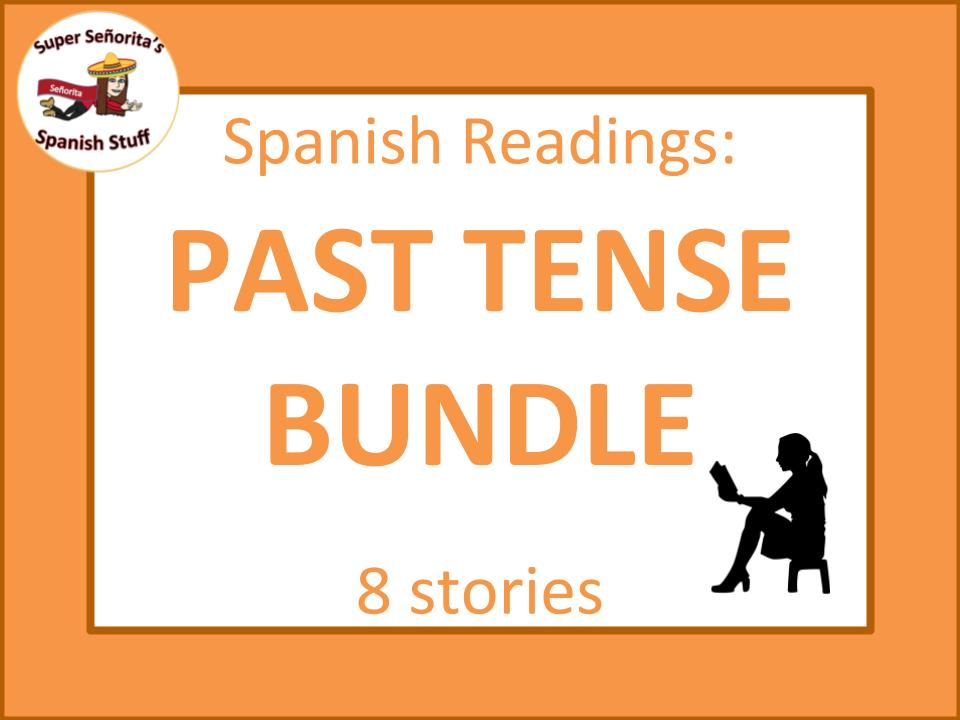 Spanish reading: Past tense bundle for beginners
