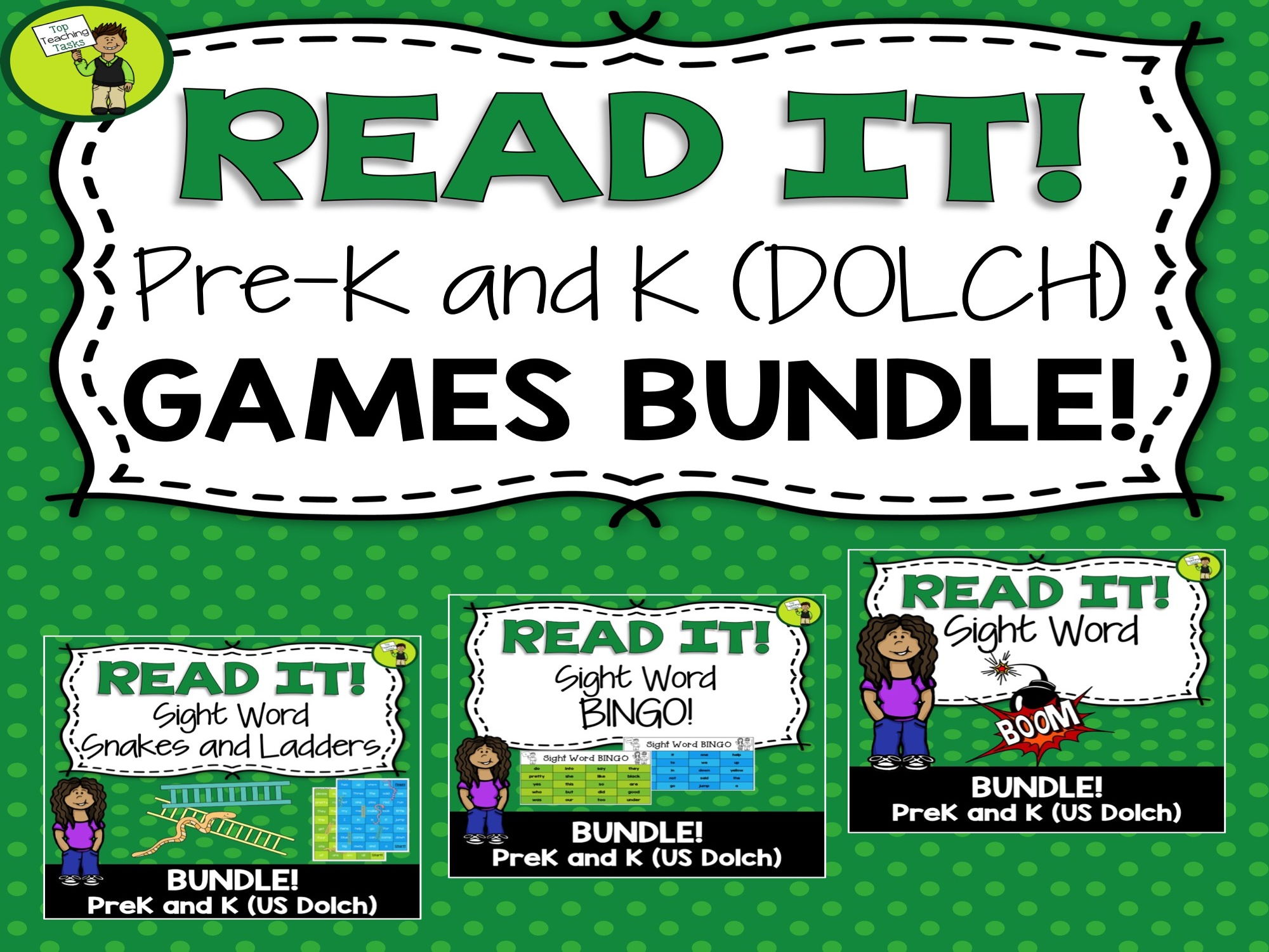 GAMES BUNDLE PreK & K (Dolch) Practice Games