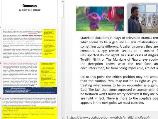 EDEXCEL Unit 4 Implications text analysis - Part of Donovan