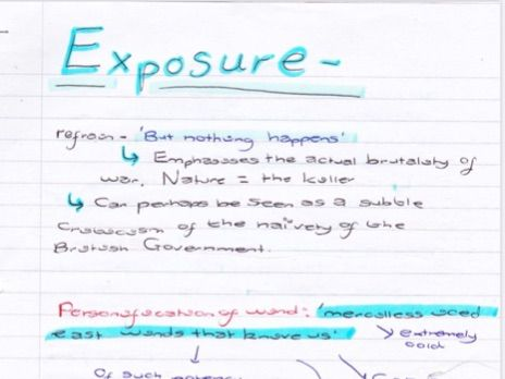 Exposure grade 9 notes