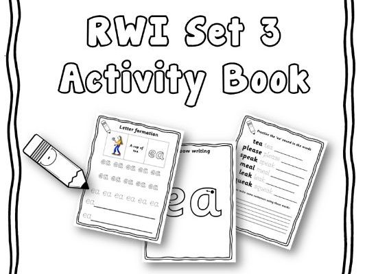 Year 1 / Reception - RWI set 3 phonics activity book + set 3 flashcards