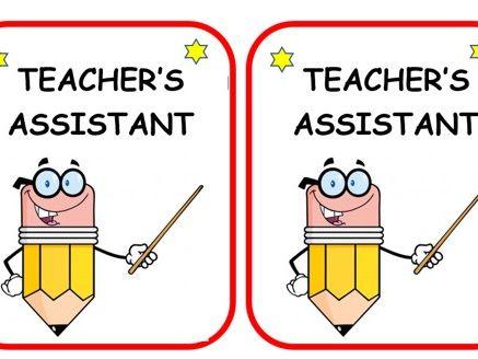 Teacher's/Class assistant cards