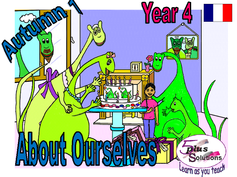 Primary French CLASS DISPLAY/FLASHCARDS: Year 4 About Ourselves