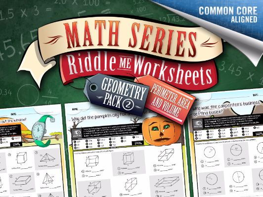Geometry Worksheets 2: Perimeter, Area, and Volume – Math Riddles