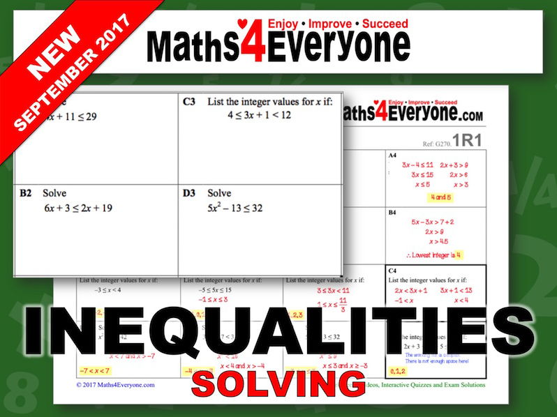 Solving Inequalities (Review Questions)