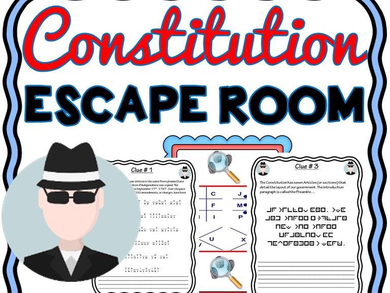 U.S. Constitution Escape Room - No Prep!