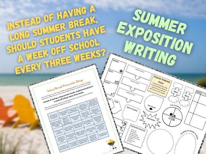 Exposition Bingo | School Breaks and Holidays | Persuasion | KS3 and KS4